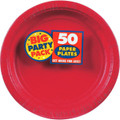 Big Party Pack Large 9 Inch Paper Plate - Apple Red