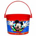 Mickey Mouse Plastic Favor Bucket Container ( 1pc )