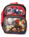 """Iron Man 3 Large 16"""" Cloth Backpack Book Bag Pack - Red"""
