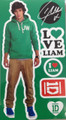 One Direction 1D Peel and Stick Reusable Wall Decal Stickers - Liam