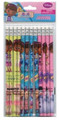Doc Mcstuffins Light-green/Blue/Pink Wooden Pencils Pack of 12