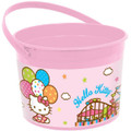 Hello Kitty Plastic Favor Bucket Container ( 1pc ) - Balloon Dreams
