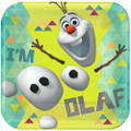 Frozen Olaf 9 Inch Large Dinner Lunch Square Plates