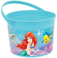 Little Mermaid Princess Ariel Plastic Favor Bucket Container ( 1pc )