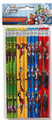 Avengers Assemble Green/Yellow/Blue/Red Wooden Pencils Pack of 12