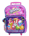 Shopkins Large Rolling 16 Inch Backpack - Hearts Purple/Pink