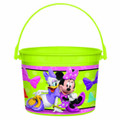 Minnie Mouse Plastic Favor Bucket Container ( 1pc )