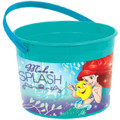 Little Mermaid Princess Ariel  Plastic Favor Bucket Container ( 1pc ) Dream Big