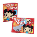 Ni Hao Kai-Lan Pack of 8 Invitations  with Thank You Cards