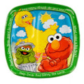 Sesame Street Elmo Large 9 Inch Square Lunch Dinner Pocket Plates - Green