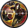Marvel Iron Man Large 9 Inch Round Lunch Dinner Plates
