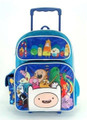 "Adventure Time Large 16"" Rolling Backpack - Blue"