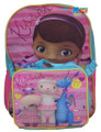 """Doc McStuffins Large 16"""" Cloth Backpack  Bag Pack with Lunch Case Box"""