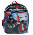 """Captain America Small Toddler 12"""" Cloth Backpack Book Bag Pack - Top Rounded"""
