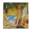 Hawaii Luau Tropical Surfing Party Small Beverage Drink Napkins (pack of 16)