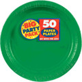 Big Party Pack Small 7 Inch Paper Plate - Festive Green