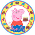 Peppa Pig 9 Inch Large Lunch Dinner Round Plates