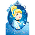 Princess Cinderella Pack of 8 Invitations  with Save the Date Stickers