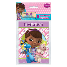 Doc McStuffins Birthday Party Invitations Pack 8 Partytoyzcom
