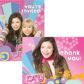iCarly Pack of 8 Invitations  with Thank You Cards