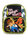 "Diego Small Toddler 12"" Cloth Backpack Book Bag Pack - Black"