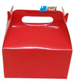 12X Solid Color Red Paper Treat Boxes