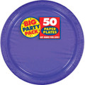 """Amscan Amscan New Purple Big Party Pack 9""""  Dinner Plates (50 Count), 1, purple"""