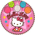 Hello Kitty Large 9 Inch Lunch Dinner Plates - Balloon Dreams