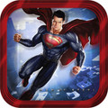 Superman Small 7 Inch Party Cake Dessert Plates
