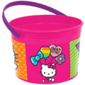 Hello Kitty Plastic Favor Bucket Container ( 1pc ) - Rainbow