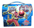 Bakugan Dome Carry All Tin Stationery Lunch Box Lunchbox - Blue