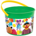 Sesame Street Plastic Favor Bucket Container ( 1pc )