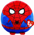 Spiderman Ty Beanie Ballz Medium 8 inch Round Plush Stuffed Toy