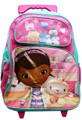 """Doc McStuffins Large 16"""" Cloth Backpack With Wheels - Pink"""