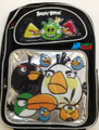 """Angry Birds Bird Red Pig Large 16"""" Backpack Book Bag Sack School Angrybirds Blks"""