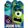 Monsters University Pack of 8 Invitations - Save the Date Stickers