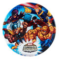 Super Hero Squad 7 Inch Small Round Dessert Party Cake Plates