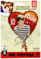 "One Direction 1D 18"" Heart Metallic Balloon - Louis"