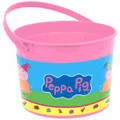 Peppa Pig Plastic Favor Bucket Container ( 1pc )