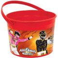 Power Rangers Megaforce Plastic Favor Bucket Container ( 1pc )