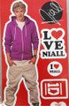 One Direction 1D Peel and Stick Reusable Wall Decal Stickers - Niall