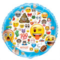 Emoji All Jumbo 34 Inch Round Foil Helium Metallic Balloon