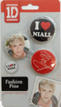 One Direction 1D Button Clip Fashion Pins - Niall