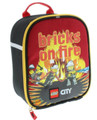 """LEGO City Vertical Cloth Lunch Box- """"Brick on Fire"""""""