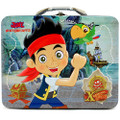 Jake and the Neverland Pirates Square Tin Stationery or Small Lunch Box - Brown