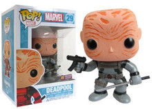 Funko Pop! Marvel Deadpool (Grey Suit/Unmasked) Bobble-Head PX Previews Ex. #29