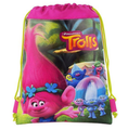 "Trolls The Movie 10"" X 14"" Drawstring Backpack Heavy Duty Nylon Bag Color- All"