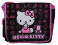 Hello Kitty Large Cloth Messenger Backpack Laptop Bag Sling - Pink Tulip