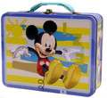 Mickey Mouse Square Tin Stationery or Small Lunch Box - Blue