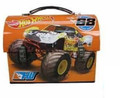 "Hot Wheels Dome Carry All Tin Stationery Lunch Box - ""Wreck Ya Later"""